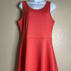 Divided H&M Womens Size 14 Coral Midi Dress